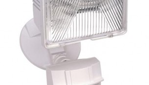 HEATH ZENITH Heath Zenith 180 Degree 250W Halogen Motion Sensing Security Light - White