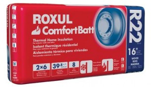 ROXUL  Roxul Comfortbatt R22 For 2×6 Studs 16 In. On Centre