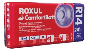 ROXUL  Roxul Comfortbatt R14 For 2×4 Studs 24 In. On Centre