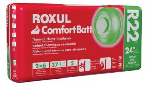 ROXUL  Roxul Comfortbatt R22 For 2×6 Studs 24 In. On Centre