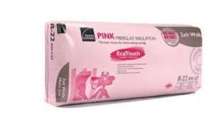 OWENS CORNING  R-22 EcoTouch PINK FIBERGLAS Insulation – 23 Inch x 47 Inch x 5.5 Inch; 75.1 sq. feet (2×6)