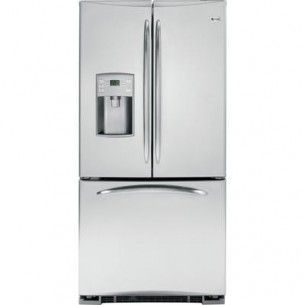GE PROFILE  GE Profile Stainless Steel 22.1 cu.ft Energy Star Bottom Mount French Door Refrigerator with External Water Dispenser
