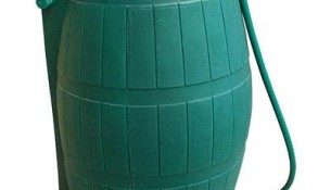 FCMP  Rain Barrel With Flat Back 315 Litre Capacity – Green