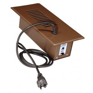 CYCLONE  Brown Booster Fan Plus with Built-In Thermostat