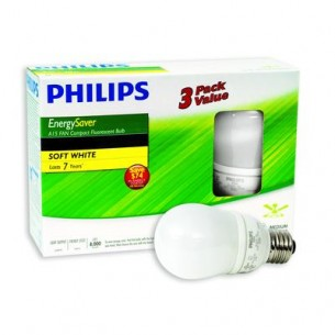 PHILIPS  5 Watt A15 Soft White – 3 Pack