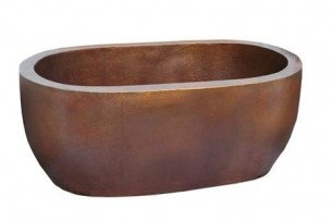 Sinks Gallery – Copper Oval Double Wall Tub Model: CT9006L20