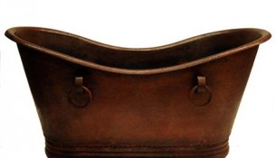 Sinks Gallery – Copper Tub with Rings Model: CT9001L20