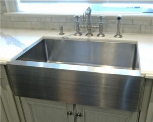 Stainless Steel Barn Sink : Sinks Gallery - Stainless Steel Apron Front Kitchen Sink Model: CK-KSS ...